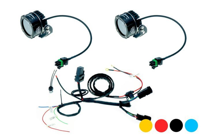Led Lamp Dual.4 with standard mount + harness