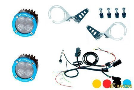 Set 2x Led Lamp Dual.4 with mount for KTM 1190 / 1190 R + harness