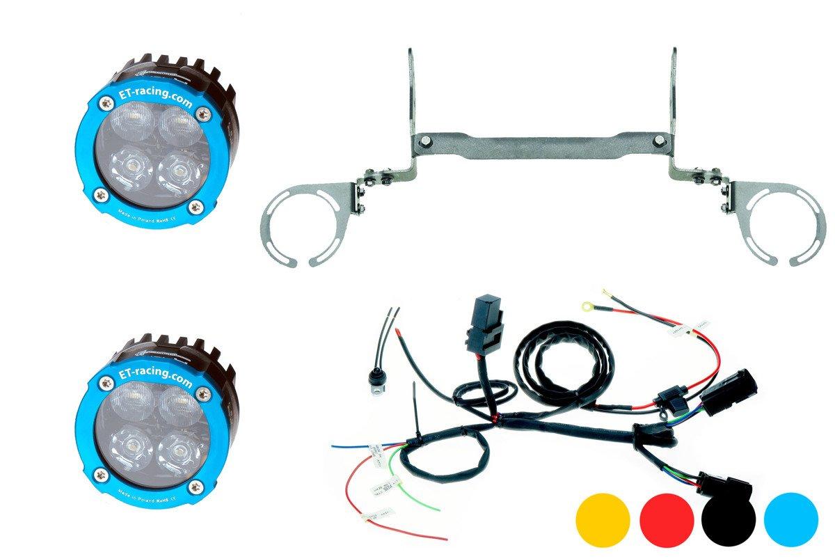 Zestaw 2x Lampa Led Dual.4 z mocowaniem do KTM 950 / 990 ADV + wiązka